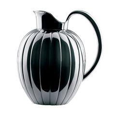 'Melon design' silver water pitcher, designed by Sigvard Bernadotte for Georg Jensen, 1950s.