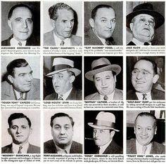 The Mob Across America: Mafia Charts Real Gangster, Mafia Gangster, Italian Mobsters, Corleone Family, Wife Movies, Mafia Crime, Chicago Outfit, Mafia Families, Major Crimes