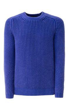 Der legere Rundhals-Pullover mit all-over Patentrippenstruktur zeichnet sich durch seine besondere Waschung und die Details am Ärmel aus. Er wird aus…
