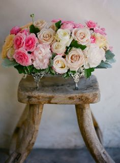 Beautiful arrangement of roses