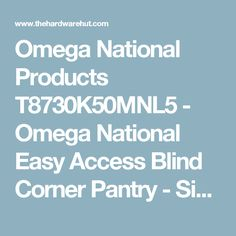 Omega National Products T8730K50MNL5 - Omega National Easy Access Blind Corner Pantry - Single Shelf Unit (Maple/Birch) - The Hardware Hut