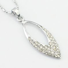 Simple dapos;argent créatif collier strass