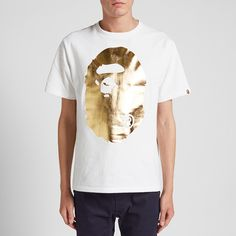 A Bathing Ape Foil Big Ape Head Tee (#342540) from END. Clothing at KLEKT