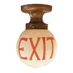 Exit Light Fixture : Aurora Mills Architectural Salvage