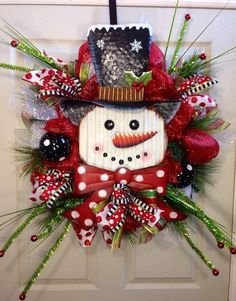 Snowman wreath