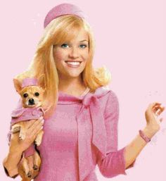 (Elle Woods and Bruiser) for a dash of pink
