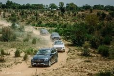 Offroad drive with the Mercedes GLC, GLA, GLS and GLE