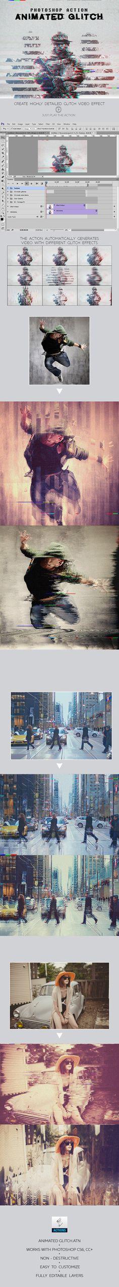 Animated Glitch Photoshop Action