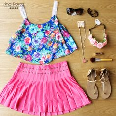 OUTFIT super  fresco y  perfecto para esta temporada ;) #beauty #girl #fresco #trendy #summer #shop #love #flores #TFLers #tweegram info inbox