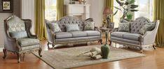 Homelegance Fiorella Sofa Set - Dusky Taupe