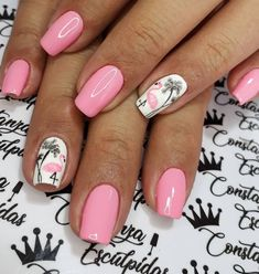 Want some ideas for wedding nail polish designs? This article is a collection of our favorite nail polish designs for your special day. Summer Gel Nails, Bright Summer Nails, Cute Summer Nails, Summer Beach Nails, Beach Toe Nails, Nails Kylie Jenner, Cute Summer Nail Designs, Tropical Nail Designs, Tropical Nail Art