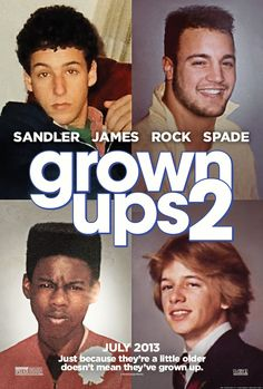Grown Ups 2 Movie Poster Photo Limited Print Adam Sandler Kevin James Chris Rock David Spade Shaq Taylor Lautner Salma Hayek Funny Movies, Comedy Movies, Great Movies, New Movies, Movies And Tv Shows, Watch Movies, Funniest Movies, Movies 2014, Cinema Movies