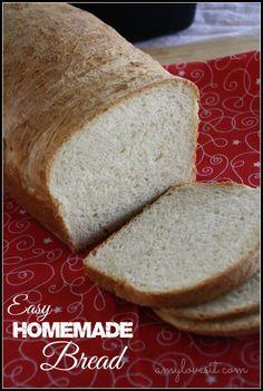 Easy Homemade Bread Recipe    AmyLovesIt.com #recipe