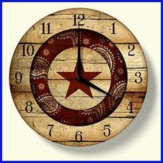 Rodeo Cowboy Western Barn Star Wall Clock Home Decor Country Decor, Rustic Decor, Country Chic, My Living Room, Living Room Decor, Westerns, Equestrian Decor, Star Wall, Western Homes