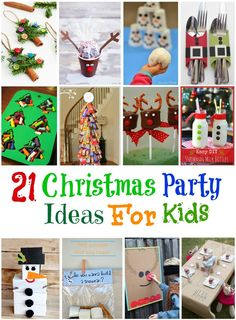 Sometimes we all need a little Inspiration with Santa coming down the chimney soon, treat your kids to a party. Here are 21 Christmas party ideas for kids.