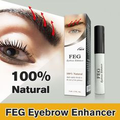 FEG Eyebrow Growth Treatment Original Eyebrow Hair Grow Enhancer Natur Serum #FEGeyebrowChina
