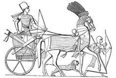 Abb. 8 Das Heer der Atlanter soll über 10.000 Streitwagen verfügt haben, wie sie auch die Alten Ägypter einsetzten (Bild). Allerdings waren die Gefährte der Atlanter mit zwei Personen bemannt.