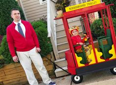 Amazing trolley our friend Scott built for mason and Maddie!!