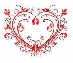 Buy Valentine Heart by VectorTradition on GraphicRiver. Red valentine heart in floral style for design. Editable (you can use any vector program) and JPEG (can edit in . Heart Decorations, Valentine Decorations, Red Valentine, Valentine Gifts, Heart Vector, Heart Graphics, Free Clipart Images, Wedding Labels, Heart Wall