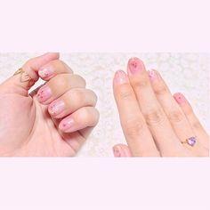 . dryflower nail 💐💐💐 他のところはクラッシュシェル🐚 花&貝殻で大好きなもの詰め込みネイル♡⃜ ⋆ #flower #dryflower #pink #gold #shell #nail #girly #cute #heart #ring #handmade #myself #ドライフラワー #押し花ネイル #クラッシュシェル #貝殻 #セルフネイル #GWネイル