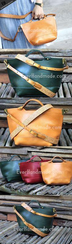 Handmade tote handbag shopper purse leather crossbody bag shoulder