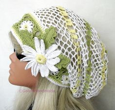 Crochet Summer Hat Oversized Beret Slouchy by GalinaHandmade, $26.50