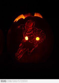 Finally, a pumpkin with RDJ on it.