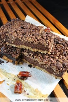 Chocolate and Date Slice (For my little ones tummy troubles)