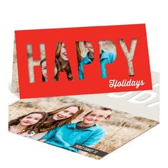 Photo Christmas Cards -- Happy Holidays