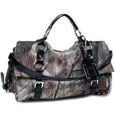 Realtree Camouflage Satchel Bag - Multi Compartments/Black