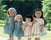 PDF Sewing Pattern fits American Girl Doll Marie Grace, Addy or Caroline: Apron Gown/ Farmcookies Pattern for Dolls Girl Doll Clothes, Doll Clothes Patterns, Pdf Sewing Patterns, Clothing Patterns, Girl Dolls, Doll Patterns, Pattern Ideas, Ag Dolls, Dress Patterns