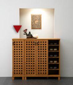 ii-kaguyahime | Rakuten Global Market: Wooden Geta shoe box, a popular Asian taste authentic lattice shoe rack box shoe cupboard, safe eco-painted low formaldehyde building standards F specs, breathable and excellent, slim design, holds 6 feet