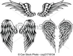 Vector - wings - stock illustration, royalty free illustrations, stock clip art icon, stock clipart icons, logo, line art, EPS picture, pictures, graphic, graphics, drawing, drawings, vector image, artwork, EPS vector art