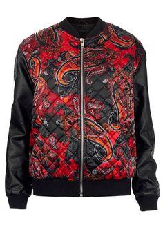 Topshop paisley print bomber jacket, £60