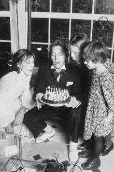 Jane Birkin, Serge Gainsbourg, Kate Barry and Charlotte Gainsbourg: Happy Birthday