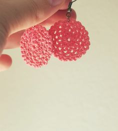 Candy Pink - Fine Crocheted Earrings