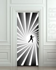 Door STICKER James Bond spy agent 007 skyfall movie by Wallnit, $39.99