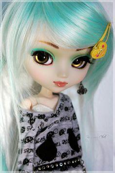 63 Barbie Diorama, Kawaii Doll, Kawaii Anime Girl, Pretty Dolls, Beautiful Dolls, Ooak Dolls, Blythe Dolls, Cute Halloween Makeup, Gothic Dolls