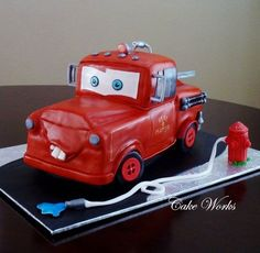 Fire Mater Truck  Cake by cakeworks. Sammy would love this!!!