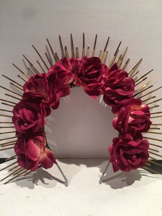 Excited to share this item from my shop: Mexican headdress -Evil queen- Flower Crown - Hair Accessory- Music Festival- Gold Crown- Heavenly Bodies- Day of the Dead Hairband, Boho Headband, Flower Headpiece, Headpiece Wedding, Headdress, Wedding Veils, Bridal Headpieces, Hair Wedding, Bridal Hair