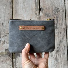 waxed canvas pouch s