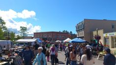 Farmers' Market in downtown Goderich, Ontario.