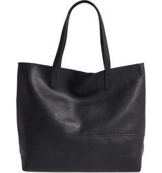 Main Image - Sole Society Oversize Faux Leather Shopper