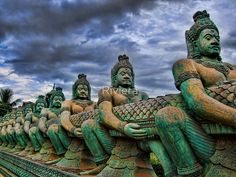 Sculptures in Siem Reap, Cambodia by Riviera