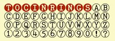 TOC in Rings font download