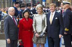 Máxima de Holanda y Silvia de Suecia, las Reinas de la elegancia y de los ancianos en la visita oficial de los soberanos suecos