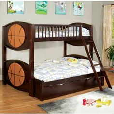 Shop for affordable twin over full bunk beds with under bed trundle and drawers. Space saving wood bunk beds twin over full in white, black, gray and blue. Twin Full Bunk Bed, Bunk Bed With Desk, Bunk Bed With Trundle, Bunk Beds With Stairs, Bed With Underbed, Kids Toddler Bed, Captains Bed, Pottery Barn Teen Bedding