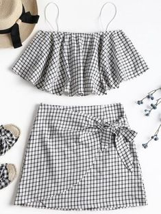 Two Piece Outfits Teen Fashion Outfits, Kids Outfits, Casual Outfits, Daily Fashion, Trendy Fashion, Womens Fashion, Affordable Fashion, Cute Summer Outfits, Cute Outfits