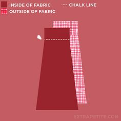 foldover waist skirt tutorial1 by ExtraPetite.com, via Flickr