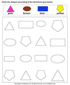 Identify Shapes Worksheet4
